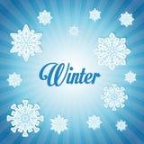 Дизайн зимы background card congratulation invitation Плоская иллюстрация Стоковые Изображения RF