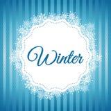 Дизайн зимы background card congratulation invitation Плоская иллюстрация Стоковые Фото