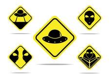 Дизайн знака чужеземцев Стоковые Изображения