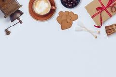 Дизайн знамени кофе Стоковое фото RF