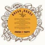 Дизайн знамени дома хлеба круглый Стоковое фото RF