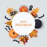 Дизайн знамени праздника хеллоуина Стоковое Фото