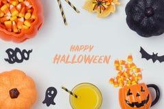 Дизайн знамени праздника хеллоуина Стоковые Изображения