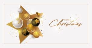 Дизайн знамени приветствию рождества и Нового Года вектора стоковая фотография