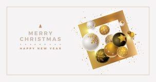 Дизайн знамени приветствию рождества и Нового Года вектора стоковые изображения rf