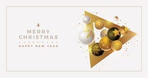 Дизайн знамени приветствию рождества и Нового Года вектора стоковые фото