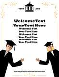 Дизайн знамени приглашения для средних школ и университетов Стоковое Изображение RF