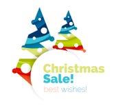 Дизайн знамени продвижения рождества и Нового Года бесплатная иллюстрация
