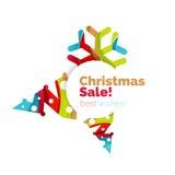 Дизайн знамени продвижения рождества и Нового Года Стоковое Изображение RF