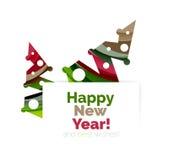Дизайн знамени продвижения рождества и Нового Года Стоковые Изображения