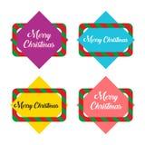 Дизайн знамени рождества Квадратное знамя Стоковая Фотография RF