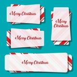 Дизайн знамени рождества Квадратное знамя Стоковые Изображения RF