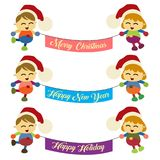 Дизайн знамени рождества Стоковые Изображения RF