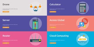 Дизайн знамени технологии иллюстрация вектора