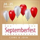 Дизайн знамени торжества Septemberfest Стоковое Фото