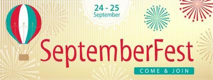 Дизайн знамени торжества Septemberfest Стоковая Фотография