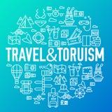 Дизайн знамен деталей значков круга перемещения лета Остатки каникул с любым комплектом элементов r Стоковые Фото