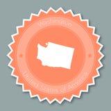 Дизайн значка Вашингтона плоский иллюстрация штока