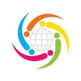 Дизайн значка глобального бизнеса Стоковое фото RF