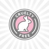 Дизайн значка животной жестокости свободный с символом значка вектора кролика Стоковая Фотография RF