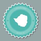 Дизайн значка Зимбабве плоский Стоковые Изображения