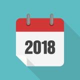 Дизайн 2017 значка календаря плоский Стоковые Фото