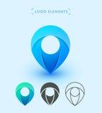 Дизайн значка логотипа указателя вектора Клеймя собрание элементов Стоковые Фотографии RF