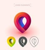 Дизайн значка логотипа указателя вектора Клеймя собрание элементов Стоковое Изображение