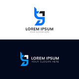Дизайн значка логотипа tg знака писем Стоковые Фото