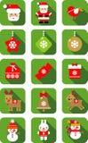Дизайн значка рождества плоский иллюстрация штока