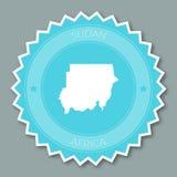 Дизайн значка Судана плоский бесплатная иллюстрация
