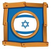 Дизайн значка флага для Израиля Стоковые Фотографии RF
