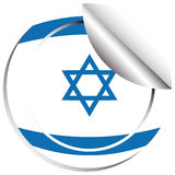Дизайн значка флага для Израиля Стоковая Фотография