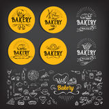 Дизайн значка хлебопекарни Год сбора винограда значка меню Стоковое фото RF