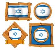 Дизайн значка для флага Израиля Стоковые Изображения RF