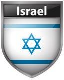 Дизайн значка для флага Израиля Стоковое фото RF
