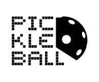 Дизайн значка Pickleball Стоковое Изображение RF