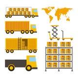 Дизайн импорта и экспорта Стоковые Изображения RF