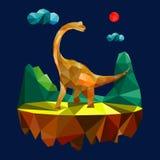 Дизайн динозавра полигональный, дизайн Иллюстрация штока