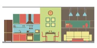 Дизайн интерьера: вся комната Стоковые Изображения