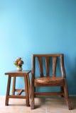 Дизайн интерьера деревянного стула. стоковое фото rf