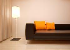 Дизайн интерьера детали живущей комнаты. стоковое фото