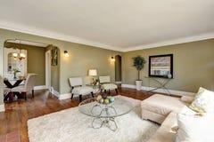 Дизайн интерьера живущей комнаты дома мастера Стоковое Изображение RF