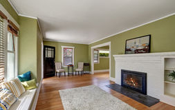 Дизайн интерьера живущей комнаты дома мастера Стоковая Фотография RF