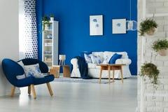 Дизайн интерьера живущей комнаты Стоковые Фото