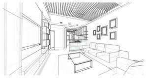 Дизайн интерьера: жить Стоковые Изображения RF