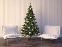 Дизайн интерьера комнаты рождества Стоковое Изображение RF