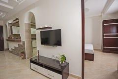 Дизайн интерьера комнаты роскошной квартиры живущей Стоковая Фотография
