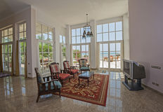Дизайн интерьера комнаты роскошной квартиры живущей Стоковое Фото
