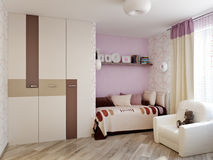 Дизайн интерьера комнаты ` s детей для девушки Стоковая Фотография RF